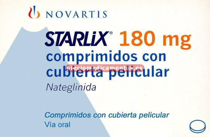 Caja STARLIX 180 mg 84 comprimidos recubiertos