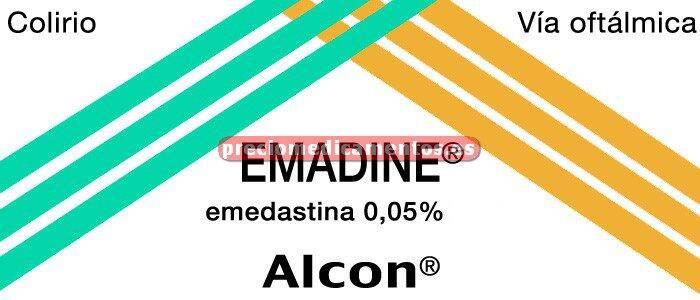 Caja EMADINE 0,05% colirio 5 ml
