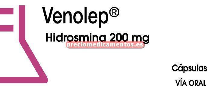 Caja VENOLEP 200 mg 60 cápsulas