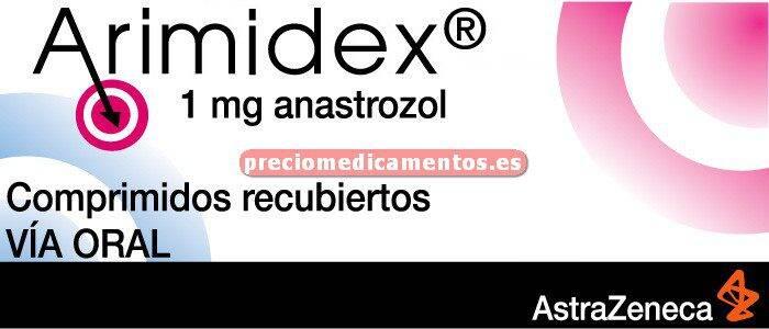 Caja ARIMIDEX 1 mg 28 comprimidos recubiertos