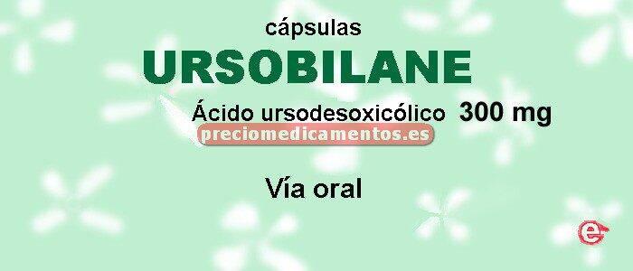Caja URSOBILANE 300 mg 60 cápsulas