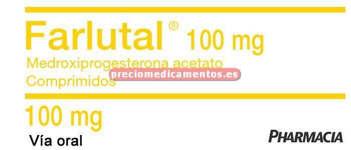 Caja FARLUTAL 100 mg 40 comprimidos