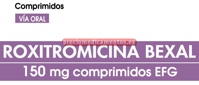 Caja ROXITROMICINA SANDOZ EFG 150 mg 12 comprim recub