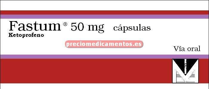 Caja FASTUM 50 mg 40 cápsulas