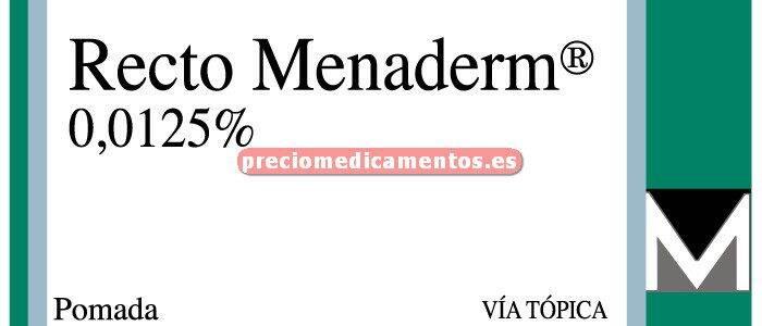 Caja RECTO MENADERM NF 0,0125% pomada 30 g