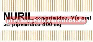 Caja NURIL 400 mg 20 cápsulas