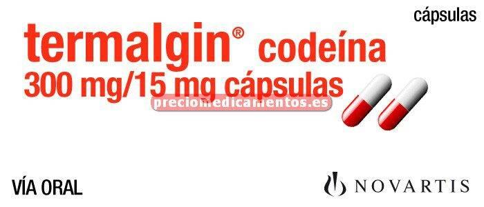Caja TERMALGIN CODEINA 300/15 mg 20 cápsulas