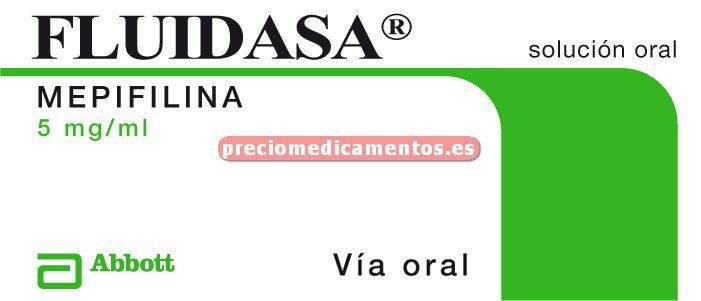 Caja FLUIDASA 25 mg/5 ml solución 250 ml