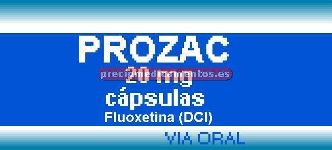 Caja PROZAC 20 mg 28 cápsulas
