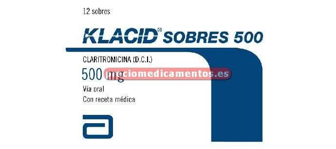Caja KLACID 500 mg 14 sobres