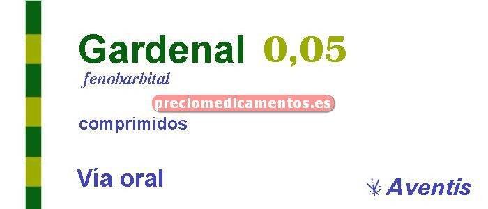 Caja GARDENAL 50 mg 30 comprimidos