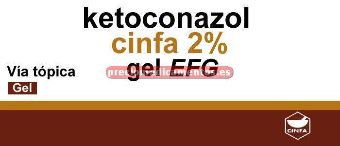 Caja KETOCONAZOL CINFA EFG 2% gel 100 ml