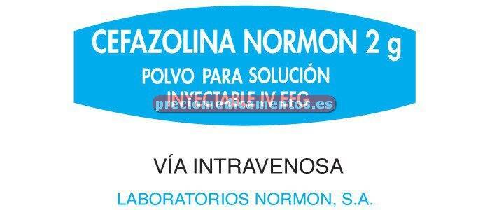 Caja CEFAZOLINA NORMON EFG 2 g IV 1 vial