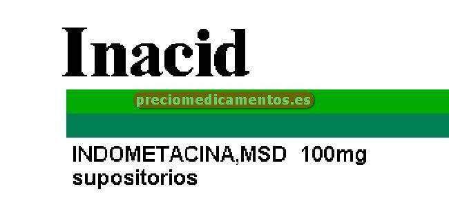 Caja INACID 100 mg 12 supositorios