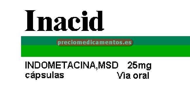 Caja INACID 25 mg 20 cápsulas