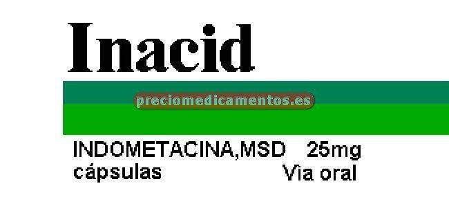 Caja INACID 25 mg 50 cápsulas