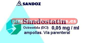 Caja SANDOSTATIN 50 mcg 5 ampollas 1 ml