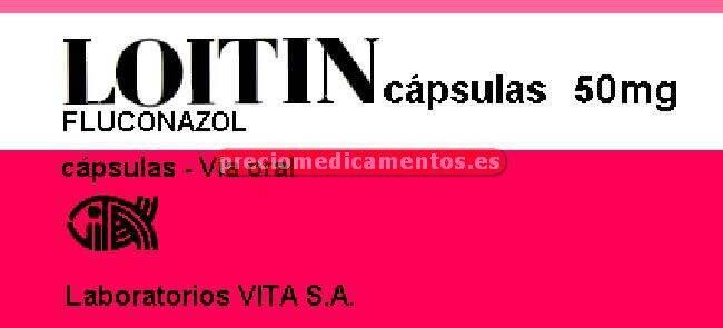 Caja LOITIN 50 mg 7 cápsulas