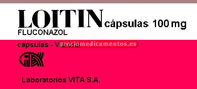 Caja LOITIN 100 mg 7 cápsulas