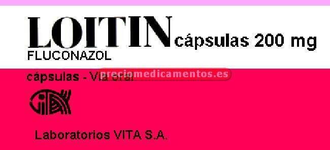 Caja LOITIN 200 mg 7 cápsulas