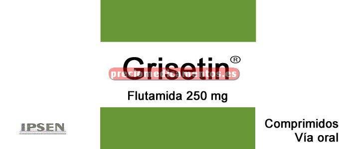 Caja GRISETIN 250 mg 50 comprimidos recubiertos