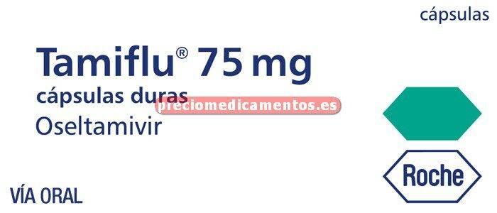 Caja TAMIFLU 75 mg 10 cápsulas duras