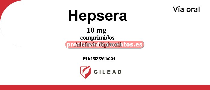 Caja HEPSERA 10 mg 30 comprimidos