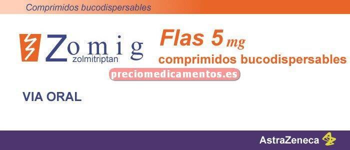 Caja ZOMIG FLAS 5 mg 6 comprimidos bucodispersables