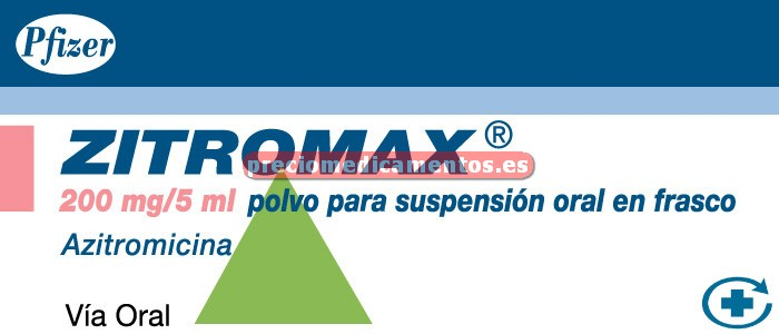 Caja ZITROMAX 200 mg/5 ml suspensión 30 ml