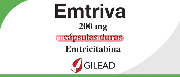 Caja EMTRIVA 200 mg 30 cápsulas