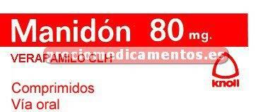 Caja MANIDON 80 mg 60 comprimidos cubierta pelicular