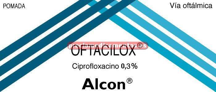 Caja OFTACILOX 0.3% pomada oftálmica 3.5 g