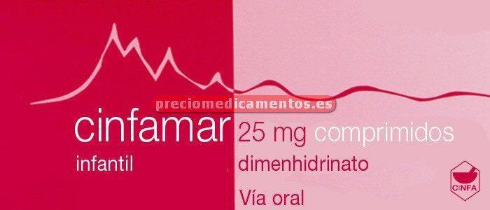 Caja CINFAMAR INFANTIL 25 mg 10 comprimidos