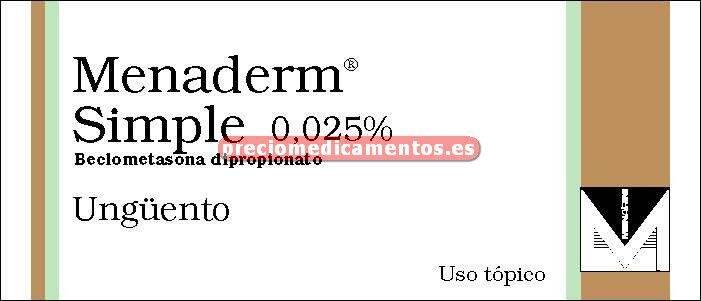Caja MENADERM SIMPLE 0.025% ungüento 60 g