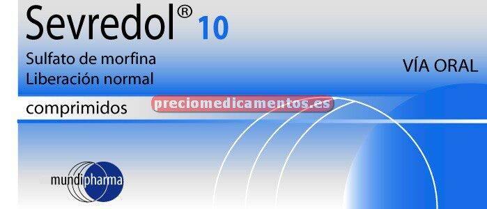 Caja SEVREDOL 10 mg 12 comprimidos