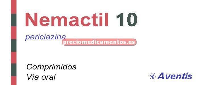 Caja NEMACTIL 10 mg 50 comprimidos