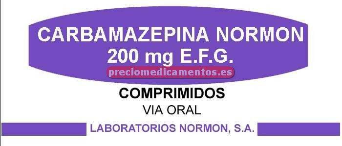 Caja CARBAMAZEPINA NORMON EFG 200 mg 100 comprimidos