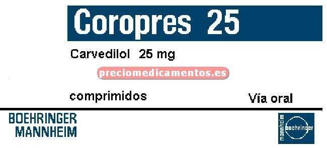 Caja COROPRES 25 mg 28 comprimidos