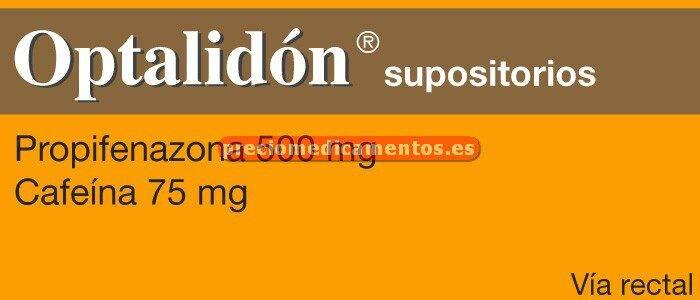 Caja OPTALIDON 500/75 mg 6 supositorios adultos