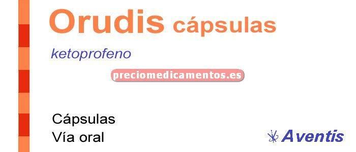 Caja ORUDIS 50 mg 40 cápsulas