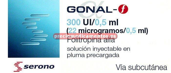 Caja GONAL F 300 UI (22mcg)/0,5 ml pluma prec+8 agujas