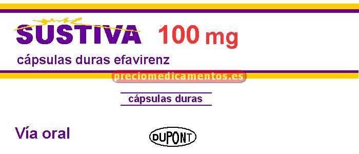 Caja SUSTIVA 100 mg 30 cápsulas duras
