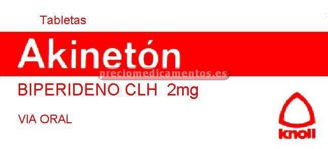 Caja AKINETON 2 mg 20 comprimidos