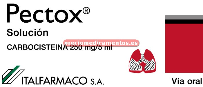 Caja PECTOX 250 mg/5 ml solución 120 ml