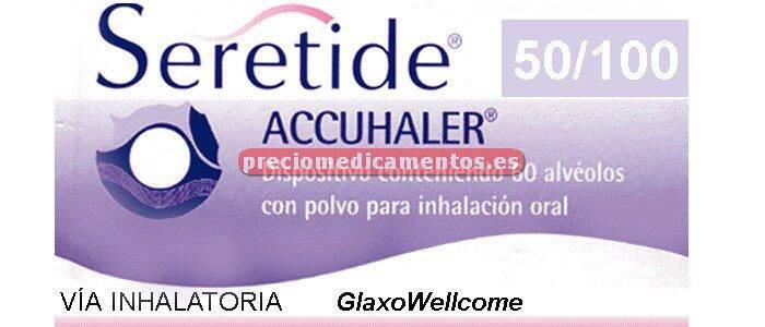 Caja SERETIDE ACCUHALER 50/100 mcg polvo inhal 60 dosis