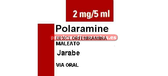 Caja POLARAMINE 2 mg/5 ml jarabe 60 ml