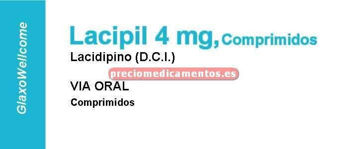 Caja LACIPIL 4 mg 28 comprimidos