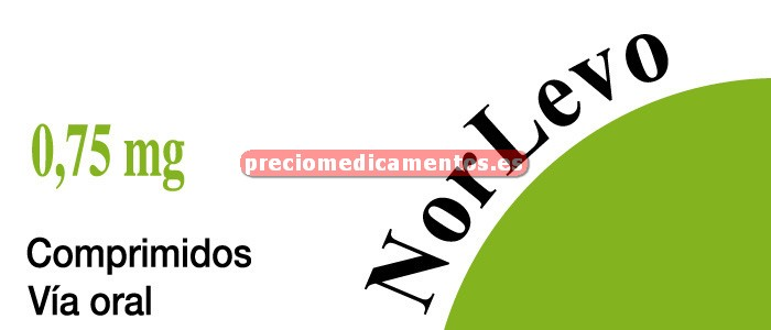 Caja NORLEVO 0,75 mg 2 comprimidos