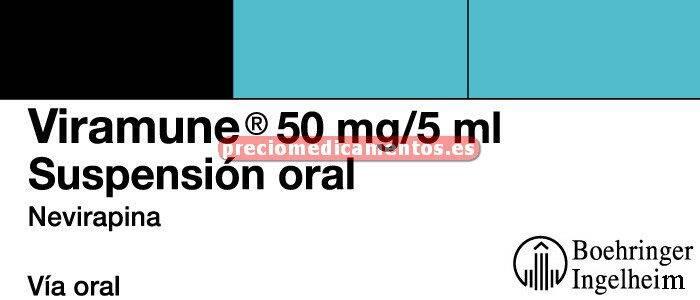 Caja VIRAMUNE 50 mg/5 ml suspensión oral 240 ml