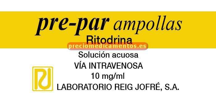 Caja PRE PAR 10 mg/ml 3 ampollas 5 ml